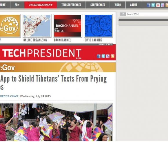 An App to Shield Tibetans' Texts From Prying Eyes
