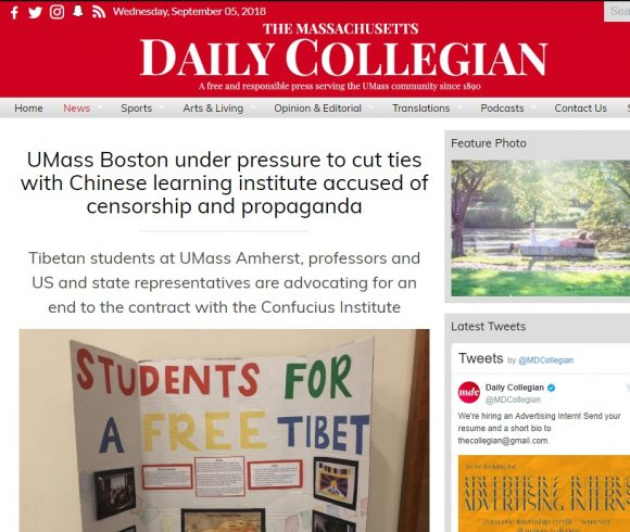 UMass Boston under pressure to cut ties with Chinese learning institute accused of censorship and propaganda