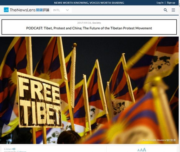 PODCAST: Tibet, Protest and China; The Future of the Tibetan Protest Movement