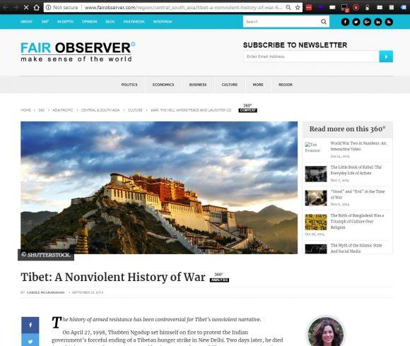 Tibet: A Nonviolent History of War
