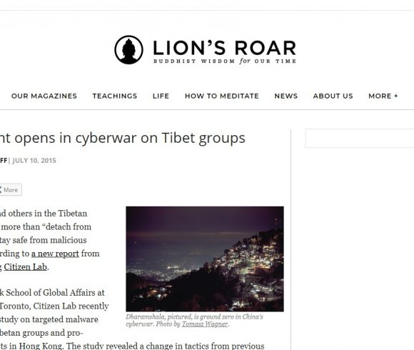 A new front opens in cyberwar on Tibet groups