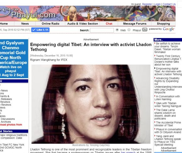 Empowering digital Tibet: An interview with activist Lhadon Tethong