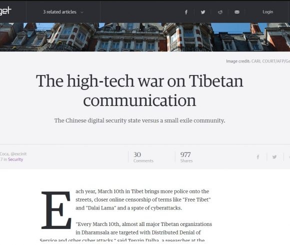 The high-tech war on Tibetan communication