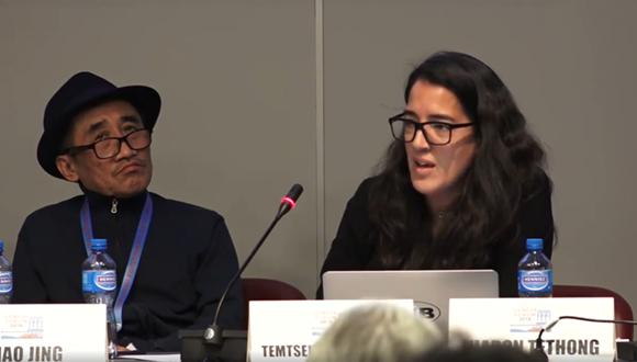 Lhadon Tethong at the Geneva Forum