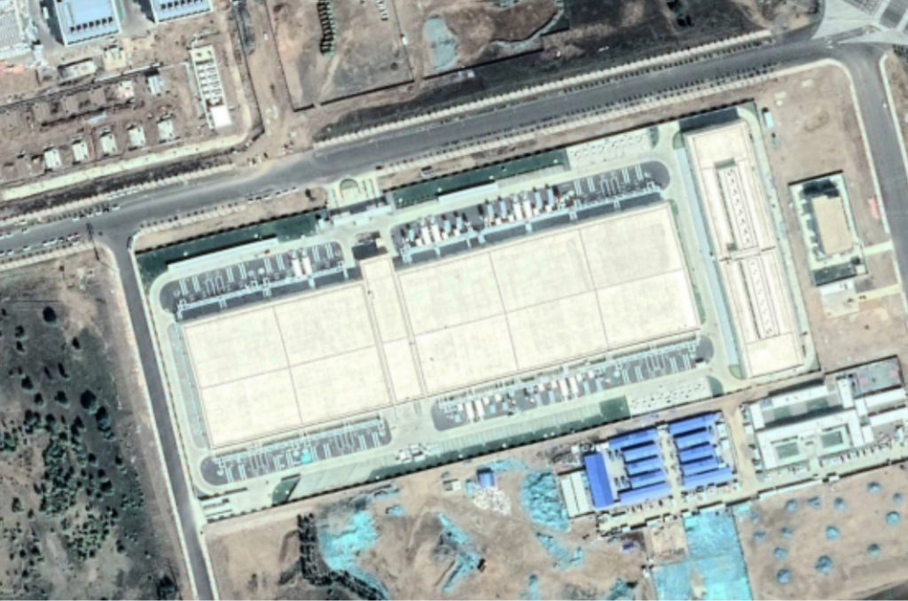 Apple's new data center in the Inner Mongolia region of China. Cnes/Airbus, via Google Earth