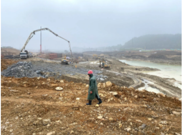 An extensive complex of apartments and town homes is being built across the street from Apple's data center in Guiyang. Keith Bradsher/The New York Times