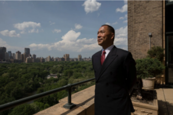 Guo Wengui, an exiled critic of China's government, in 2017. Apple said it had removed his iPhone app in China because it had determined it was illegal there. James Estrin/The New York Times